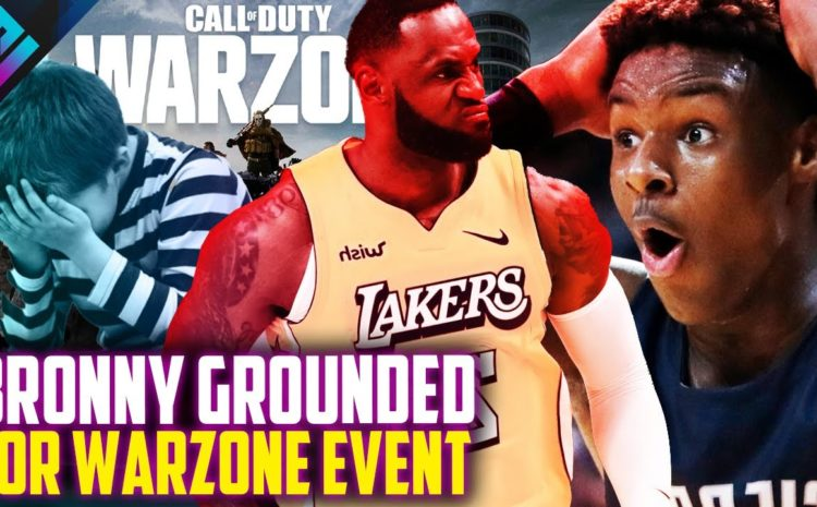 FaZe Bronny James Grounded from Warzone Event by Lebron James