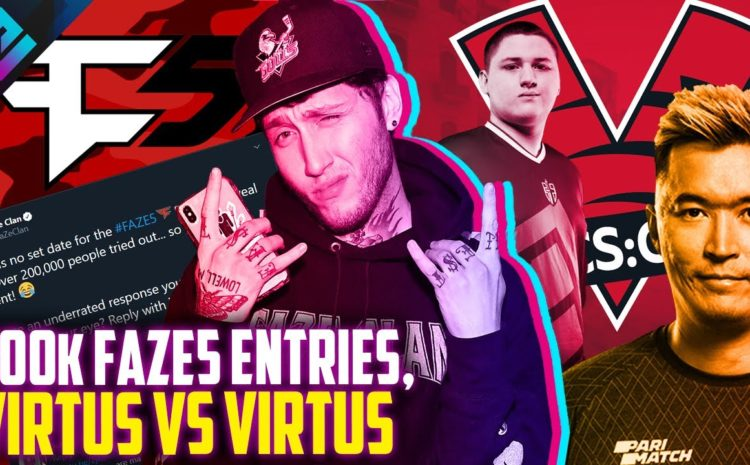 200,000 FaZe Clan Submissions and Virtus Pro 2 Teams in 1 Event